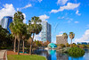Orlando skyline fom lake Eola Florida US