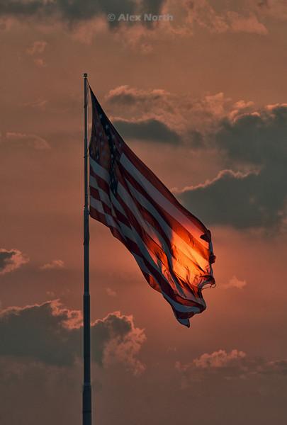 Flagbacklit