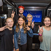 2017_02_28, CA, La Colina Junior High School, Santa Barbara, Students, Juniper Networks, Amy Holland, front studio, interior bus, interior, peace signs