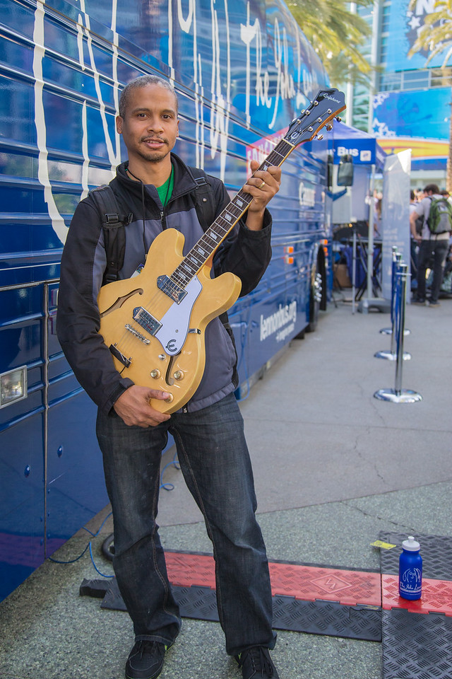 2016_01_21, Anaheim, CA, NAMM, Tents, The NAMM Show 2016, Tours, Winner, Giveaways, Epiphone, lb.org