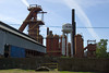 The Sloss Blast Furnace #1 on the left at the Sloss Furnaces National Historic Landmark