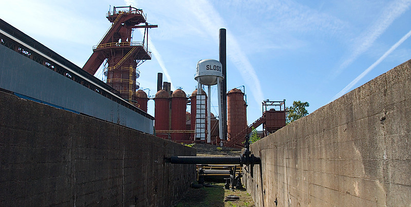 Entering the Sloss Furnaces National Historic Landmark