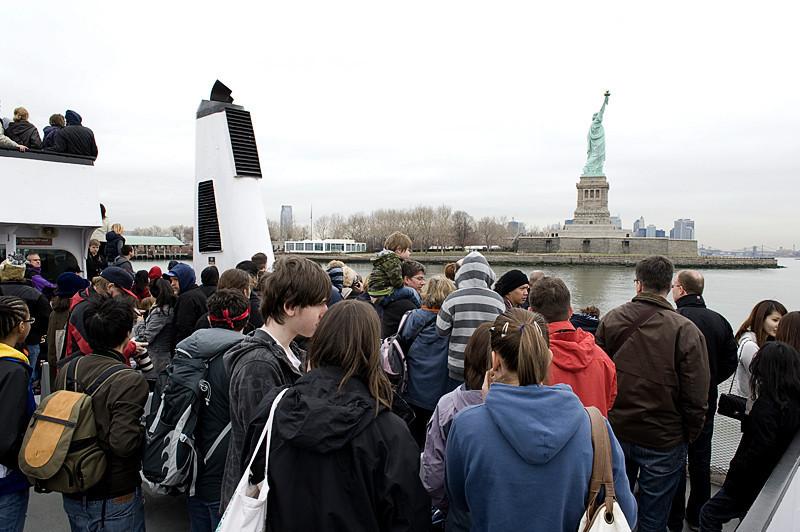 Nearing the dock at Liberty Island
