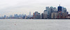 The Manhattan skyline seen from the ferry while returning from Ellis Island to Manhattan