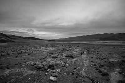 Dusk. Golden Canyon Trailhead. Death Valley National Park, CA/NV