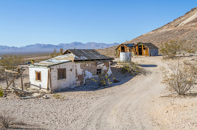 HDR Composition. Rhyolite Ghost Town - Rhyolite, NV