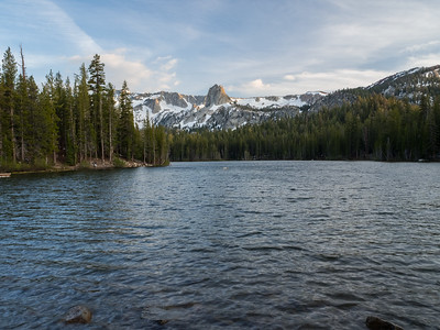 Sunset. Lake Mamie. Inyo National Forest, CA, USA
