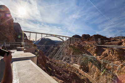 Mike O'Callaghan - Pat Tillman Memorial Bridge. Hoover Dam. Arizona Side. Lake Mead National Recreation Area - NV, AZ
