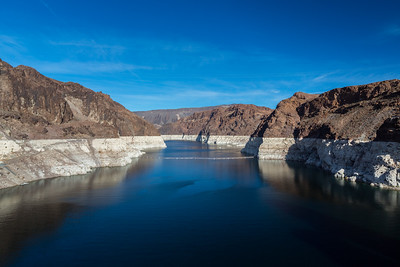 Lake Mead. Hoover Dam. Stateline of Nevada & Arizona. Lake Mead National Recreation Area - NV, AZ