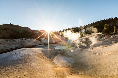 Sunset. Bumpass Hell. Lassen Volcanic National Park - California, USA