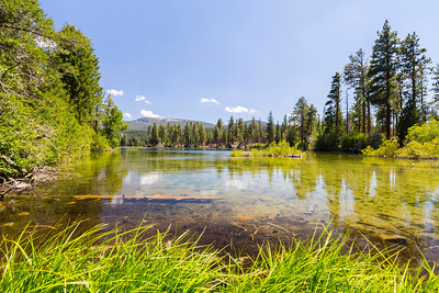 Manzanita Lake. Lassen Volcanic National Park - California, USA