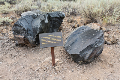Obsidian. Mushpot Cave. Lava Beds National Monument - Tulelake, CA, USA