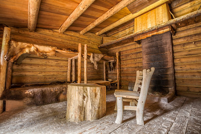 HDR Composition. Fort Clatsop - Lewis and Clark National Historical Park. Astoria, OR, USA