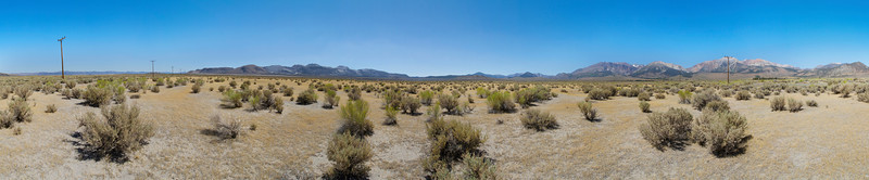 Panorama. Mono Basin - Lee Vining, CA, USA