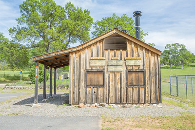 Old Blacksmith Shop. Catheys Valley Park - Catheys Valley, CA, USA - Route to Yosemite National Park