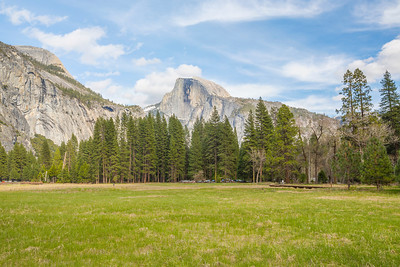 HDR Composition. Half Dome. Cook's Meadow - Yosemite National Park