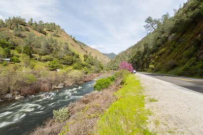 Merced River. Stanislaus National Forest - CA, USA - Route to Yosemite National Park