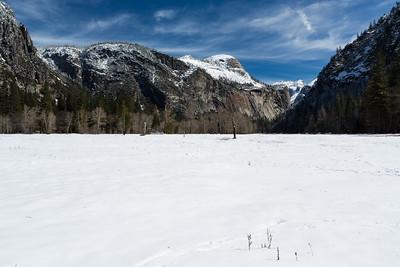 North Dome. Near Swinging Bridge. Yosemite National Park, CA, USA