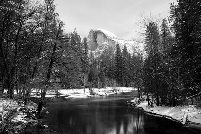Merced River & Half Dome. Sentinel Bridge. Yosemite National Park, CA, USA