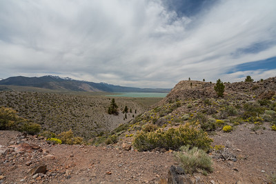 Crater (foreground), and Eastern Sierras & Mono Lake (in the distance). Panum Crater. Mono-Inyo Craters. Inyo National Forest, CA, USA