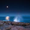 Moon over Schoodic Point