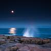 Moon over Schoodic Point
