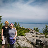 Sarah and Sue on Top of Great Head Trail