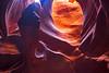 Face in pillar in Antelope slot canyon