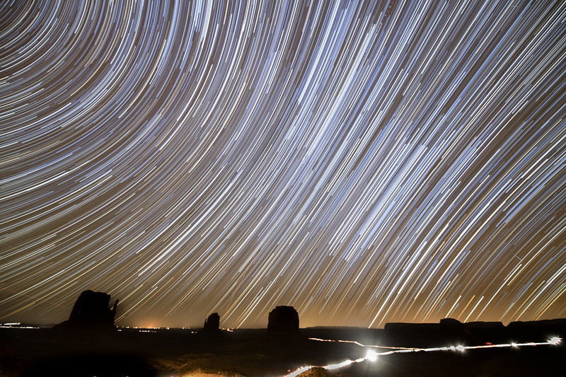 Star Trails Over Monument Valley, Utah