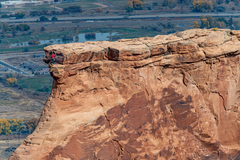 Climber on Independence Monument, Colorado National Monument