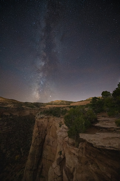 Milky Way over Colorado National Monument