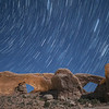 Star Trails over Arches Windows, Arches National Park, Utah