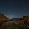 Night Sky over Colorado River, Utah
