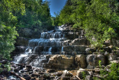 Silver Stairs Waterfall, Essex, Montana