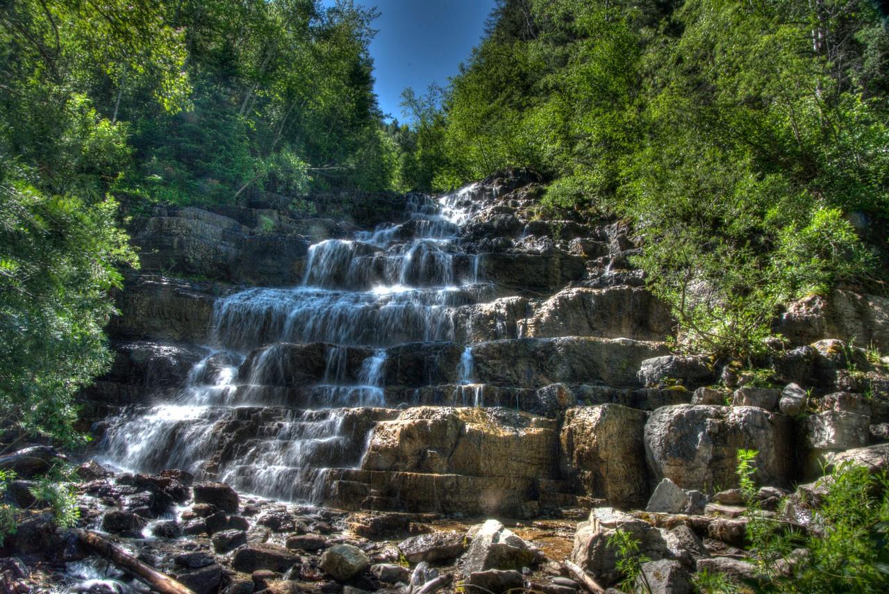 Silver Stairs Waterfall, Essex, Montana
