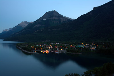 98 - Waterton Lake after sunset