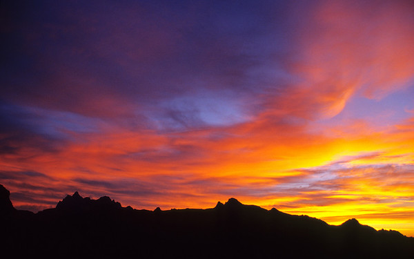 Teton Sunrise from the Death Canyon Shelf