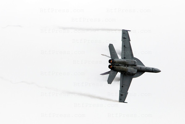 US Navy F/A F18 E/F Super Hornet during the Miramar air show in San Diego,California on October 03, 2010.