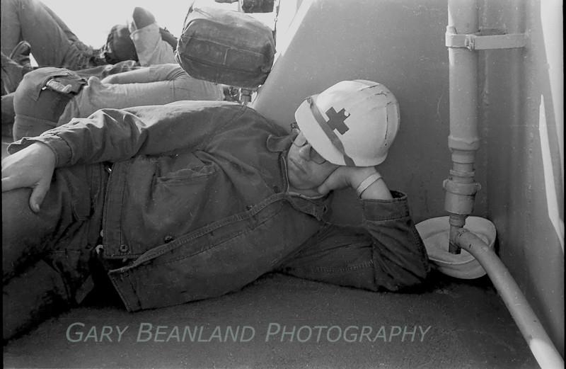 A Corpsman taking a break.