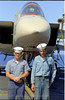 Charlie Johnston and Dan Newhall visit the USS Saratoga CV-60 at Rhodes, Greece.