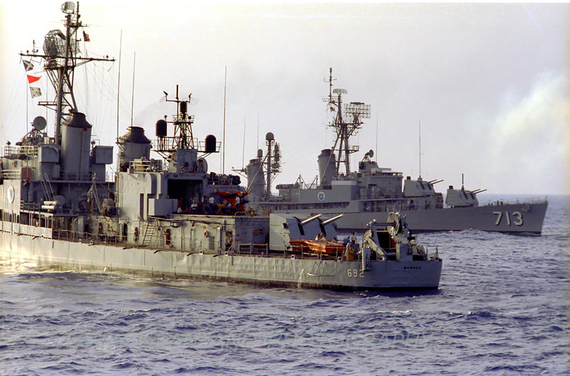 USS Allen M. Sumner, DD-692 and the USS Kenneth D. Bailey DDR-713