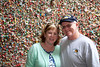 Kathy and John Curtin at the gum wall.  Pike Street Market.