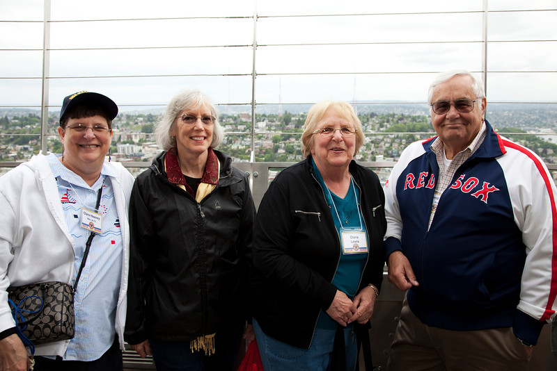 Clare Heavey, Susan Daniel, Diane and Merrill Lewis