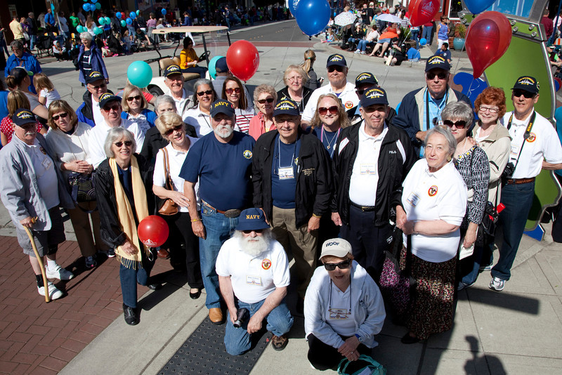 Waiting for the Armed Forces Day parade to start.  Downtown Bremerton..