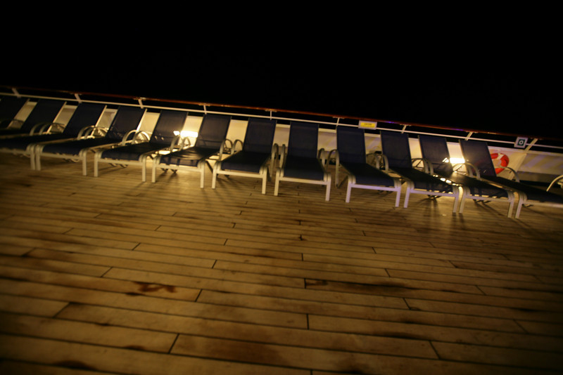 Upper deck at night.