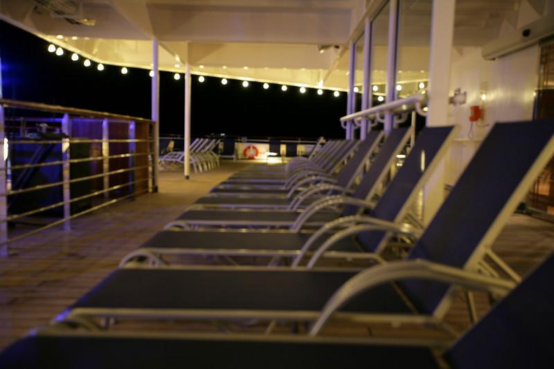 Upper deck at night.