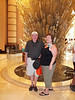 Don and Joan Rowan in the entryway of the lobby of the Atlantis Resort on Paradise Island, Bahamas. Don Rowan photos.