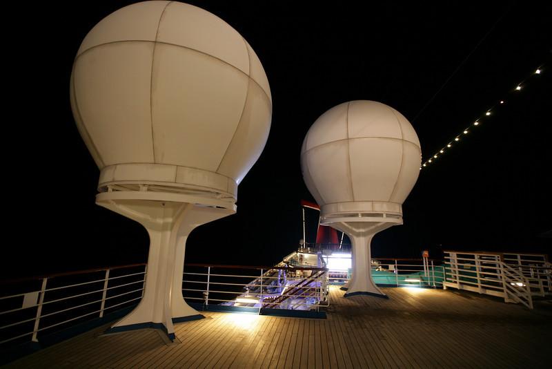 Satellite antennas in protective domes