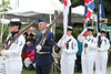 US Navy Color Guard and Royal Canadian Navy Color Guard.