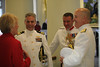 Linda Ward, Commander Vincent Perry, Colonel Alan Litster OBE, Royal Marines, Rear Admiral Ten Eyck Powell lll